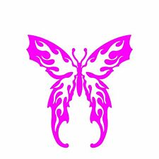 BF-01 Butterfly with Flames -  vinyl car window decal sticker 15 colors avail