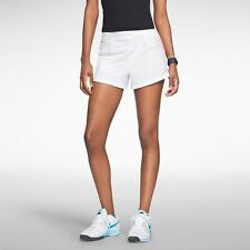 Nike 598346 Women's Icon 2-in-1 Woven Tennis Shorts Training Running Yoga White