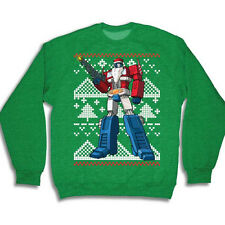 Optimus Prime Transformers Ugly Christmas Sweater Tacky Holiday Sweatshirt New