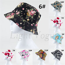 Women Lady Boonie Hunting Fishing Outdoor Cap Flower Floral Bucket Sun Hat 77v