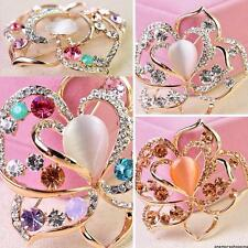 Wedding rhinestone Gold Plated crystal flower floral brooch pins jewelry Gifts