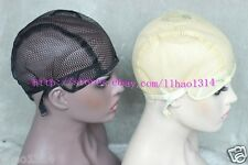 Small hole on full cap Wig Cap Mesh Net Caps Weaving Caps with adjuststraps 1pcs
