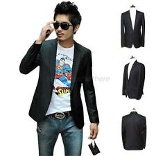 Casual Men's Slim Fit One Button Suit Korean Fashion Blazer Coat Jacket Outwear