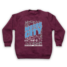 MOTOR CITY DETROIT MICHIGAN COOL RETRO CAR FASHIONABLE KIDS SWEATSHIRT SWEATER
