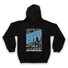 MOTOR CITY DETROIT MICHIGAN COOL RETRO CAR FASHION KIDS FULL ZIP HOODIE HOODY