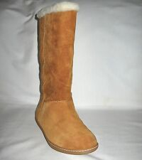 J.CREW BRAND NEW (NWT) SUEDE ALPINE ROLL OVER SHORT BOOTS Color:Bronw