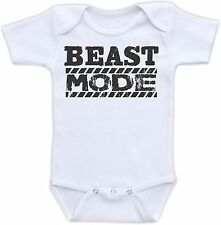 Beast Mode Cute Baby Onesie Funny Onsie Clothing Cool Shower Gift Unique Awesome