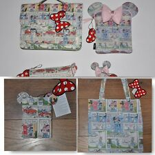 Primark Minnie Mickey mouse Disney Satchel backpack BNWT pen case ipad iphone
