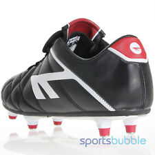 Hi-Tec League Pro Screw-in Junior Football Boots Black/White/Red rrp £35