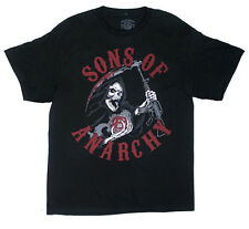 Sons of Anarchy Men's SOA Reaper Charge T Shirt Black  TV Show Motorcycle street