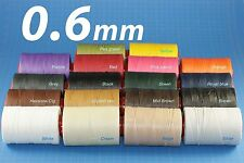 PROMO!! 0.6mm RITZA 25 Tiger Waxed Thread for Leather Hand Sewing 12 Colors -25m