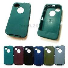 Silicone Rubber Outer Skin For Otterbox Defender Series Case For iPhone 4 4s