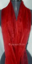 RED CRYSTAL ORGANZA WRAP NEW NEW DISCONTINUED LINE
