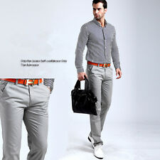 Men's Classic Straight Slim Fit cotton business Trousers Casual Long Pants