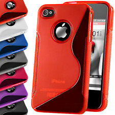 S-Line Case Gel Rubber Silicone Skin TPU Wave Back Cover For Apple iPhone 4 4S