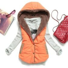 Women Girls Winter Hooded Thick Warm Waistcoat Vest Hoodie Coat Jacket Outerwear