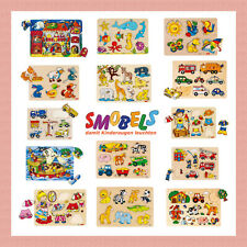Goki Plug Puzzle Wooden Inlay Puzzle Children Learn Jigsaws Wooden - New