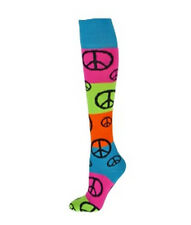 NEW RED LION RAINBOW PEACE SIGN KNEE HI SOCKS SOCCER BASKETBALL VOLLEYBALL