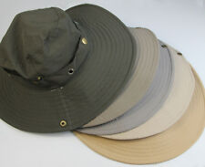 Bucket Outdoor Boonie Hat Hunting Fishing Cap Washed Cotton W STRINGS