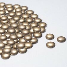 Diamante Me Bronze Round Plane Metallic Hotfix/ iron on Rhinestuds 100 per pack