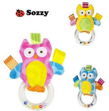 newest arrival sozzy cute mini owl baby toy handbell baby shaking toy rattle 1pc