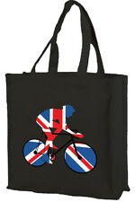 Best of British Sport, Union Jack Cycling Cotton Shopping Bag, Choice of Colours