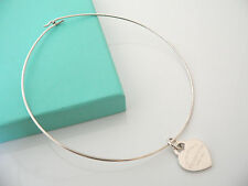 Tiffany & Co Return to Tiffany Heart Tag Wire necklace Pendant Charm Chain Rare