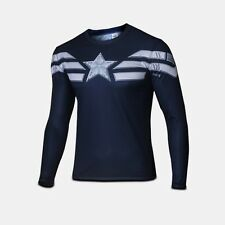 Captain America T Shirt Winter Soldier Casual Long Sleeve Tops Aasin Sz S-4XL