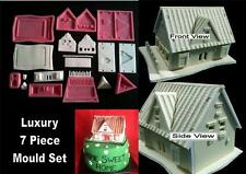 LUXURY 3D HOUSE COTTAGE 7 MOULD SET  silicone  mold  FABULOUS DETAIL stand up