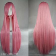 Cosplay Long Straight Wig 100cm Sweet Girl Hairpiece Tilted Frisette Multi-Color