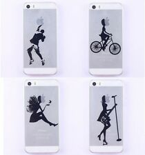 Playing Basketball Ride a Bike Transparent Case Cover for iPhone 5 5S