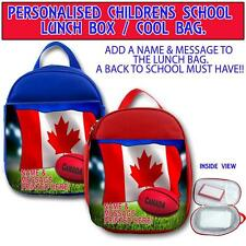 PERSONALISED CANANDA RUGBY CHILDRENS SCHOOL LUNCH BOX NURSERY COOL BAG ST424