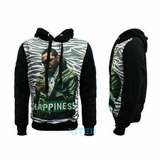 Mens Black Hoodie Size M L XL XXL New Hooded Jumper Warm Graphic Sweatshirt
