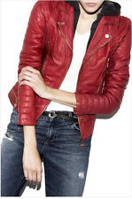 NWT Doma hooded leather jacket Retail: $698 Free People