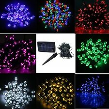 Colorful 100/200 LED Solar Powered Fairy Light String Christmas Wedding Party
