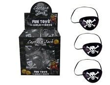SKULL & CROSSBONE PIRATE EYE PATCH PATCHES PARTY LOOT BAG STOCKING FILLER KIDS