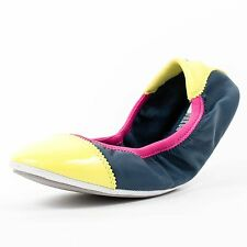 CHAUSSURE PUMA WOMENS KITARA TOE CAP SHOE BLUE YELLOW 354839 04 NO BOX 5E
