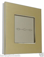 I LumoS Amber Edition Brushed Aluminium Touch Dimmer OR Remote LED Light Switch