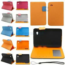 "Colorful Folding PU Leather Stand Smart Case Cover for 7"" Samsung P3100/P6200"