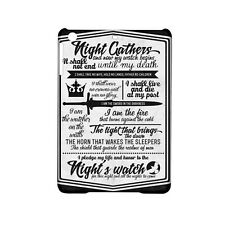 GAME OF THRONES Night's Watch Oath  Case For all iPad Models