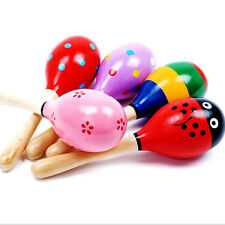 Percussion Musical Instrument Rattle Sand Hammer Baby Boy Girl Wood Ball Toy SK