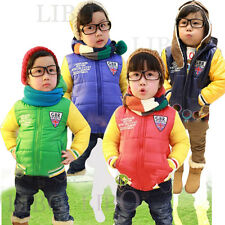 Kids Boy Winter Down Coat Puffer Jacket Hoodie Hooded cotton quilted Parka