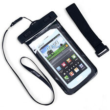 Waterproof Pouch Dry Bag Cover Case Skin For Cell Phone PDA Blue/Black New