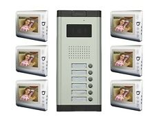 Apartment Wired Video Door Phone Audio Visual Intercom Entry System