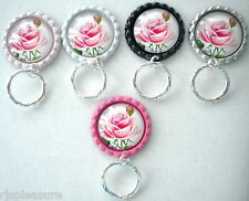 MAGNETIC or IN ID Name Badge OR Handy Reading/SunGlasses Holder Rose