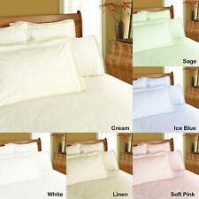 Broderie Anglaise Lace Damask Sheet Set - Deep Wall DOUBLE QUEEN KING 6 colours