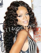 "Celebrity Curly Wavy 100% Indian Remy Human Hair Lace wig Lace front wig 14""-24"""