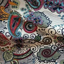 Pink Vibrant Paisley Lawn Cotton Fabric | Perfect for dressmaking | 140cm wide