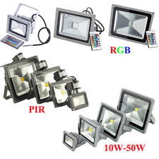 10W 20W 30W 40W 50W RGB LED PIR Flood Spot Light Outdoor Landscape Garden Lamps