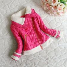 Fashion Baby Girls Princess Solid Zip Jacket Coat Snowsuit Kids Outwears Clothes